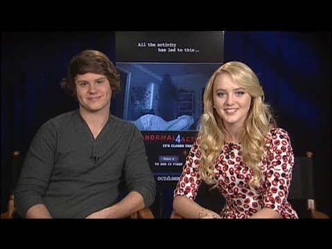 Matt Shively & Kathryn Newton - Paranormal Activity 4 Interview with Tribute