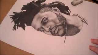 Drawing The Weeknd - Time Lapse