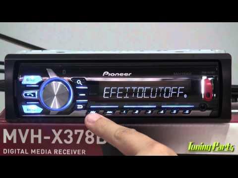 Pioneer MVH-X378BT - Media Receiver com Bluetooth - Linha 2015