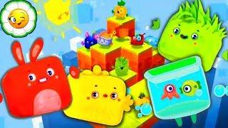 Четверо в кубе #1  Новая игра! Построй свой неповторимый Кубомир на неизведанной планете!