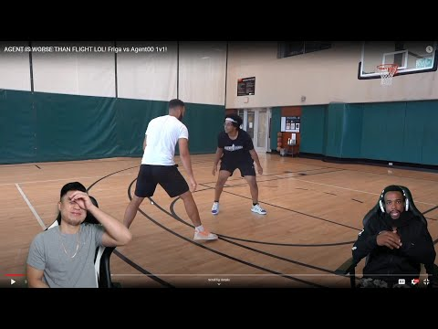 CASH WAS SALTY THIS WHOLE VIDEO LOL! REACTING TO FRIGA VS AGENT00 1V1 BASKETBALL WITH CASH!