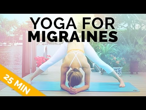 Yoga For Migraine Headache Relief Gentle All Levels Yoga 25 Min Youtube