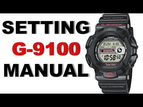 Setting G-Shock Gulfman G-9100 Manual 3038