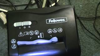 Fellowes Shredder Unboxing and USE!