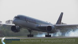 (HD) Plane Spotting At (MAN) Manchester Airport (EGCC) On the 19/04/2019