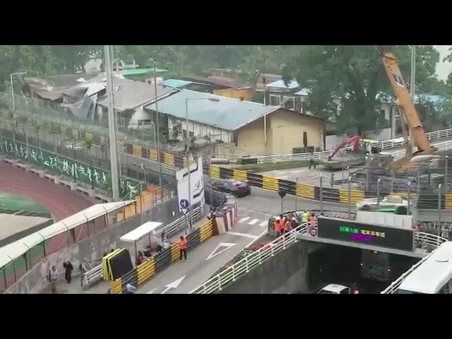 Huge pile up - Crash - 2017 Macau Grand Prix - FIA GT World Cup