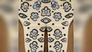 아틀리에지 동백꽃수저받침 세라믹페인팅입니다
