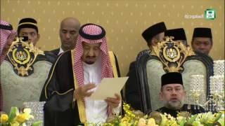 #خادم_الحرمين_الشريفين يشرف حفل العشاء الذي أقامه ملك #ماليزيا في القصر الملكي في #كوالالمبور