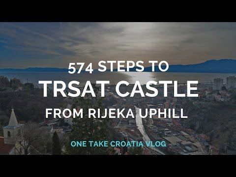 574 steps from Rijeka to Trsat Castle - One take #Croatia vlog