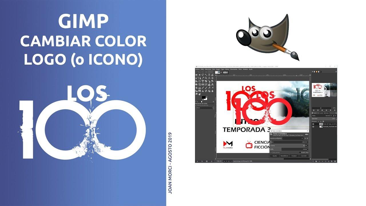 Gimp Cambiar Color Logo Los 100 Joan Morci