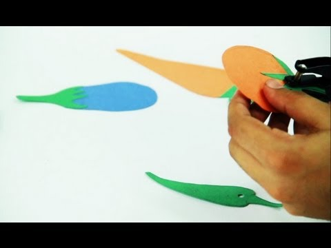 how to make paper vegetables