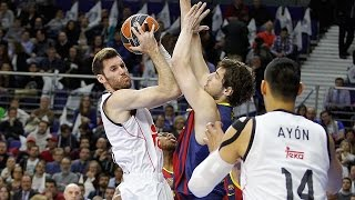Real madrid made a major response to its first top 16 defeat by hammering arch-rival fc barcelona 97-73 on thursday in the game of week at barclaycard ce...