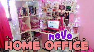 Tour Home Office | Escrivaninha NOVA 💕