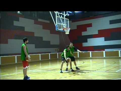BASKETBALL POST MOVES. TRAINING WITH THREE OF THE