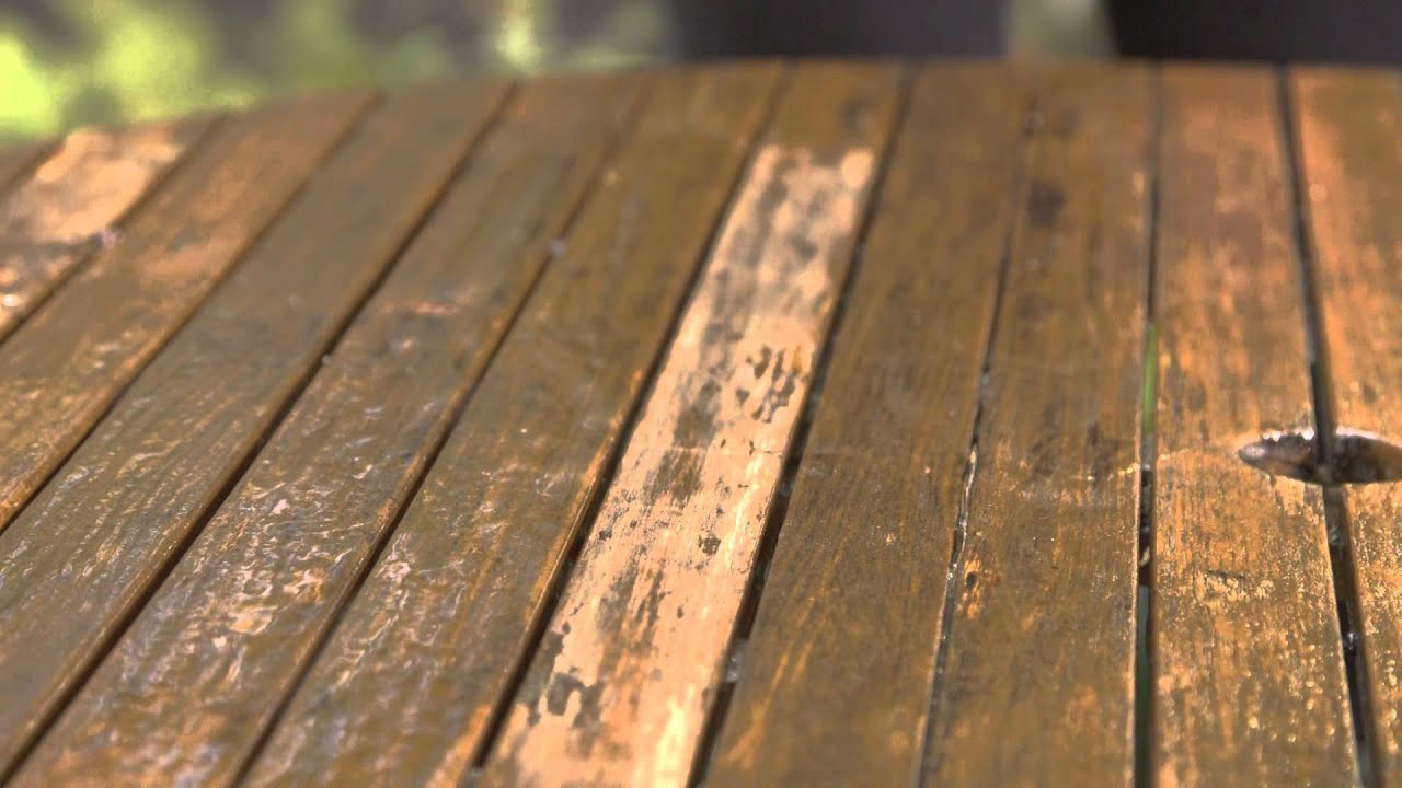 Garden Furniture Stain how to strip old paint from your garden furniture - youtube