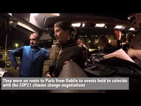 Irish Climate Activists Threatened With Deportation At Cherbourg Ferry Port On Way To COP21