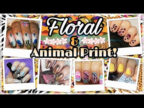 Nail Art Tutorial | Floral and Animal Stamping Manicure | Facebook Collab ✓ thumbnail