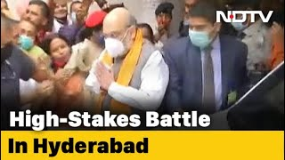 Amit Shah's Visit For High-Stakes Hyderabad Polls To Start From A Temple