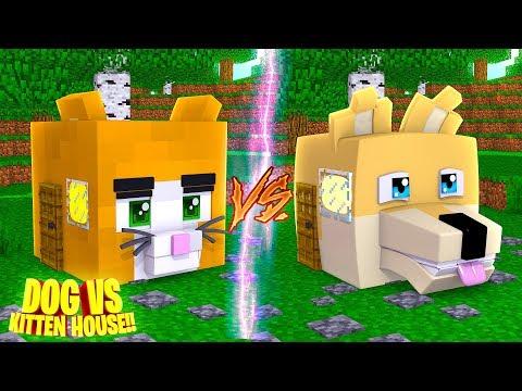 Minecraft KITTEN HOUSE VS PUPPY HOUSE - House VS House Challenge w/ Little Donny