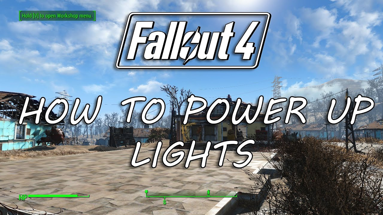 Fallout 4 How To Power Up Lights Connecting In Sanctuary Guides You