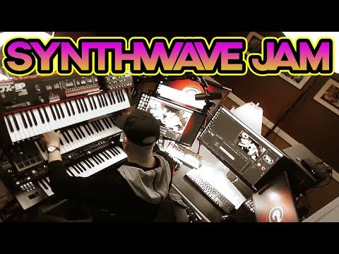 CHILL Synthwave Jam // Using Roland Synths (Live) JX-3P, System-8, Se-02, MX1 & TR-8