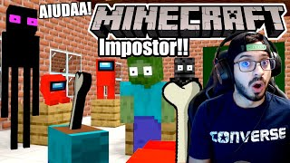 Among Us en Escuela de Monstruos de Minecraft | Quien es el Impostor Minecraft | Video Reacción