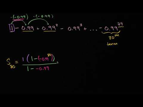 Three examples of evaluating finite geometric series