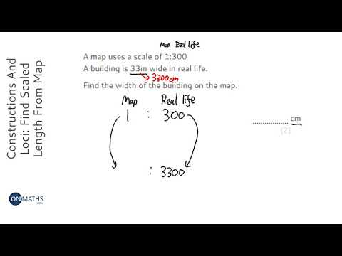 Constructions And Loci: Find Scaled Length From Map Scale (Grade 3) - OnMaths GCSE Maths Revision