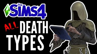 The Sims 4: ALL DEATH TYPES! (Up to Tiny Living) 😂😈