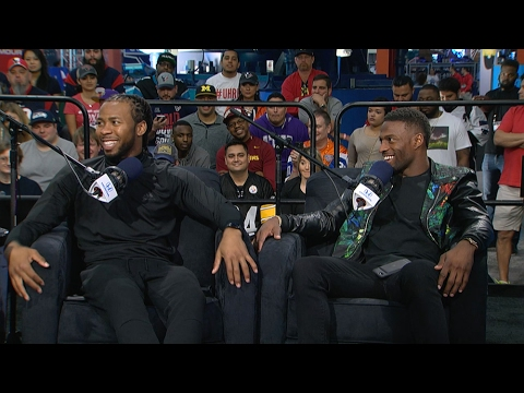 Redskins CB Josh Norman & Broncos WR Emmanuel Sanders Joins The RE Show in Studio - 2/1/17
