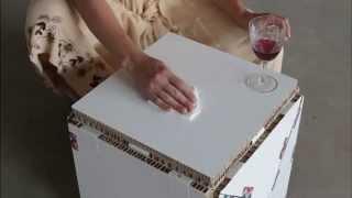 видео Мебель из бумаги, где используется и как сделать самостоятельно