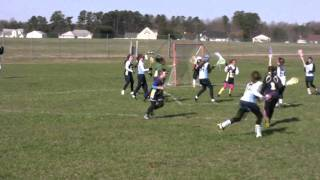 Christina Benson scores 2 goals for Atlantic Lacrosse Girls U-11 vs. Dorchester 3-26-11