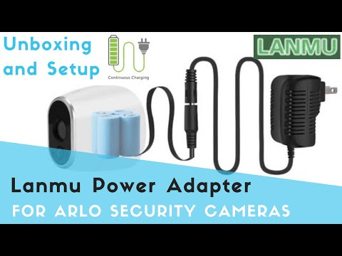 LANMU Power Adapter for Arlo Camera,Power Supply with Cable Replace CR123A for