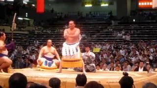 Sumo Wrestler Yokozuna Hakuho ritual dance