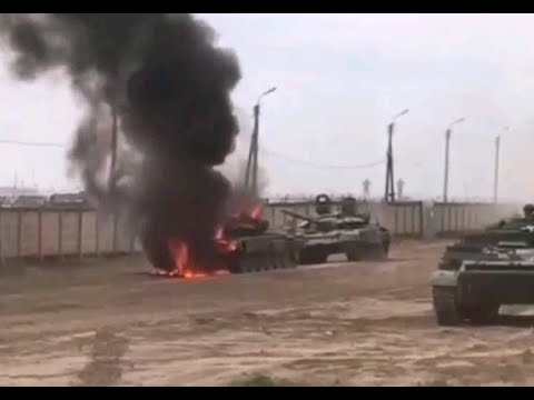 Сгорел Т 72БМ 205 й мотострелковой бригады ВС РФ