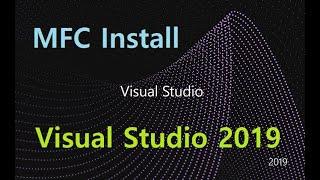 Visual Studio 2019 MFC 추가설치하기