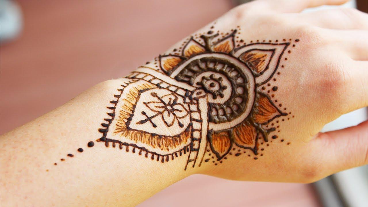 Super Cute Henna Tattoo Design Inspired Youtube