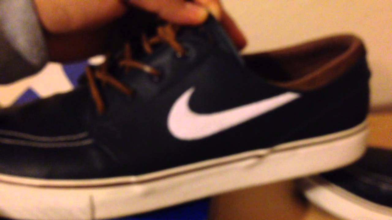 reputable site 32e9c f7665 Nike sb stefan janoski obsidian leather review