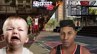 NBA 2K17 ANIMATIONS VS NBA STREET 2 ! 100% CRAZY! * ROUND 1 *