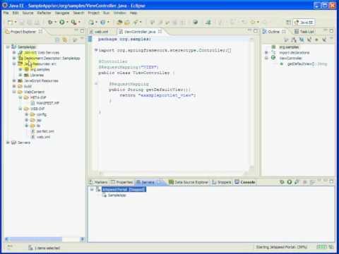 Eclipse Spring Portlet MVC Plugin