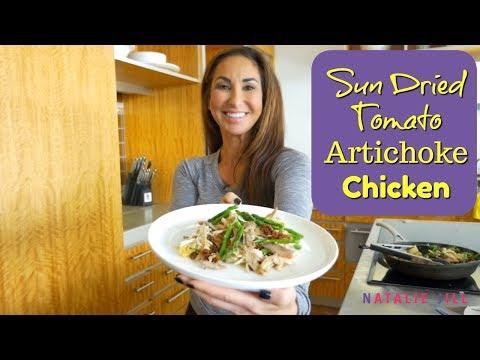 Sun Dried Tomato Chicken Artichoke Recipe | Natalie Jill
