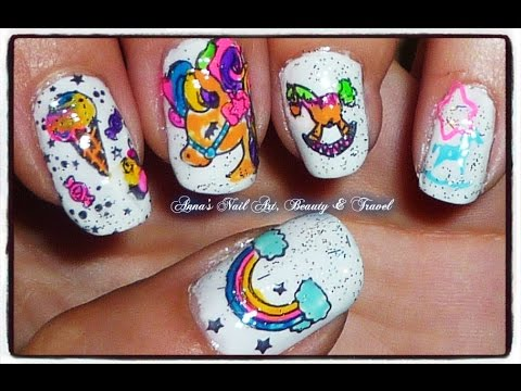My Little Pony Nail Design BPS stamping - YouTube