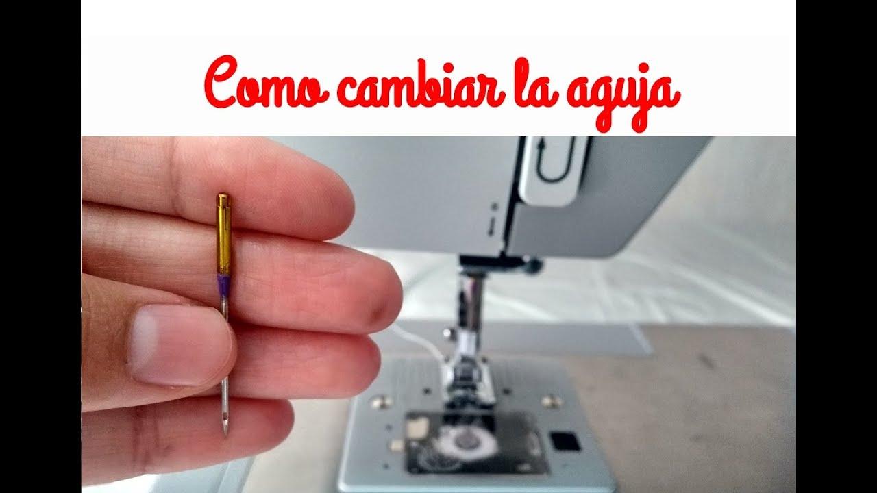 Como cambiar la aguja de mi máquina de coser ¡MUY FÁCIL