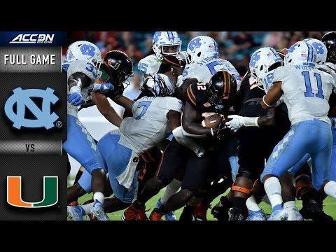 North Carolina Vs Miami Full Game   2018 ACC Football