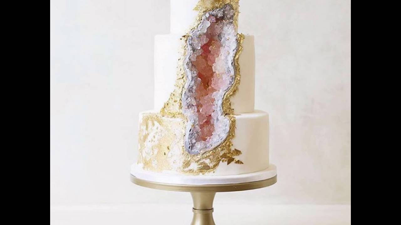 This New Geode Wedding Cake Trend Is Rocking The Internet - YouTube