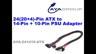 24(20+4)Pin ATX to 14-Pin + 10-Pin Power Supply Cable for Corsair HXi Series