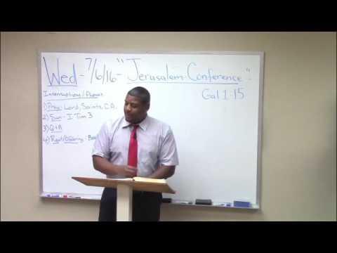 "4) Galatians Study (1:15-23) ""Jerusalem Conference"" Ron Knight"
