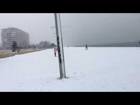 Snowstorm in Thessaloniki