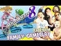 Mario Kart 8 pt.2 - Dad Son vs. Mom Daughter Family Face Cam Gameplay w/ Balloon Battle