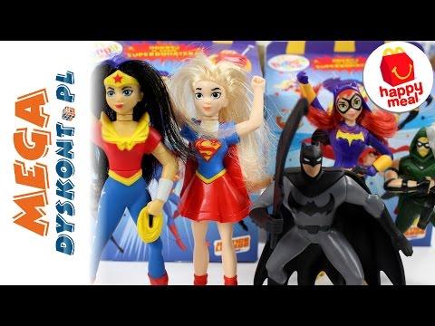 Happy Meal - Super Hero Girls & DC Comics - Wonder Women & Liga Sprawiedliwości - McDonalds